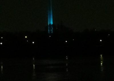 Donauturm Shine a light on NF