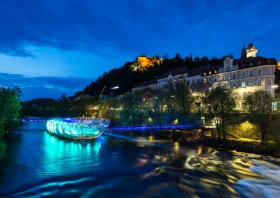 Murinsel Graz Shine a light on NF - (c)Harry Schiffer